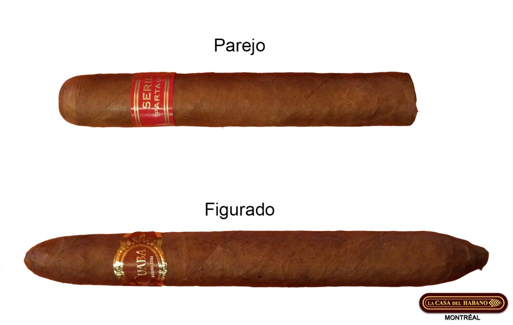 Parejo vs figurado shape